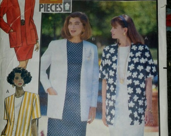 Butterick 5390 Fast & Easy, 4 Piece, Lined Jacket, 2 looks - Sizes 12 and 14