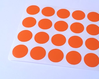 40 Orange Circle Stickers, Planner Stickers, Envelope Seal, Party Stickers, Baby Shower Stickers, Birthday Stickers, Weeding Invitation