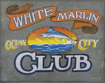 White Marlin Fishing Club  Print