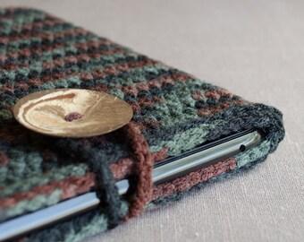 Crochet Bag, iPad Case, Camo Ipad Case, iPad Cover, iPad Sleeve, Tablet Cover, Tablet Case, Tablet Sleeve, Gifts for Boyfriend, Camo Bag