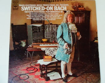 """Switched-On Bach - Virtuoso Electronic Performances - """"Brandenburg Concerto"""" - Fugues  Moog Synthesizer - RE Classical Vinyl LP Record Album"""