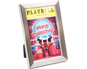 Playbill Frames - Stainless Steel Broadway, Off-Broadway, Theatre  and more - Self Standing Frame with Wall Hanger