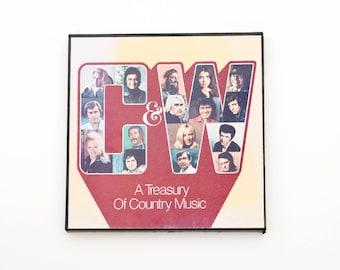 Country & Western Vinyl Records Vintage Retro Music