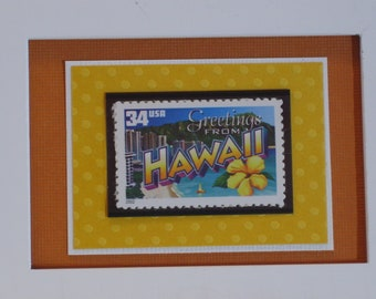 Greetings from Hawaii Framed Postage Stamp - No. 3571/3706