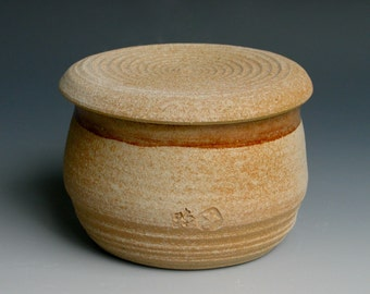 French Butter Keeper in Nutmeg Glaze