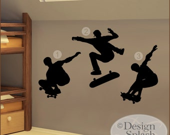 SKATE BOARDERS Set of 3 Wall Decals SP-109