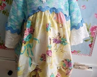 upcycled OOAK dress size 6