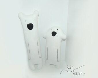 Plush Bears soft toy stuffed bear stuffed animal baby toy a set of 2 softies