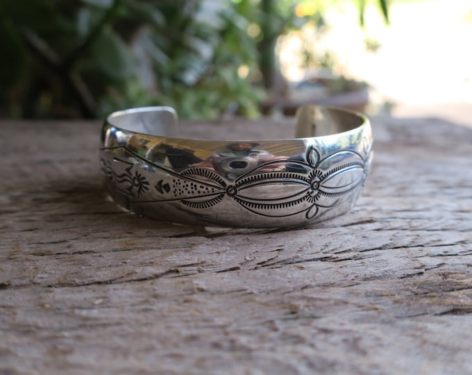 Vintage Domed Don Platero Sterling Silver Cuff