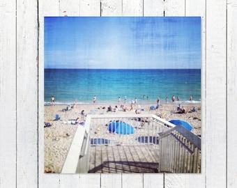 Printable Beach Photography Digital Download | Turquoise Ocean Waves Sunshine Coastal Art | Printable Beach House Decor | Instant Download