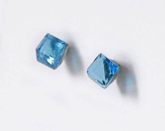 Crystal Swarovski 4 mm Cube (stud) earrings
