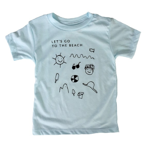 Let's go to the beach Toddler Tee - Blue