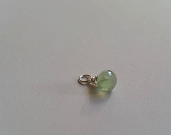 Wire - Wrapped Pendant - Prehnite Onion Briolette Gemstone - ADD ON Pendant/Charm