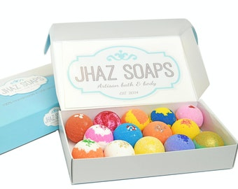 Bath bombs, Gift Set, 14 Count, bath bomb kit, Gift for her, Gift for Women, Premium quality, Made in USA, Natural, Gift for children