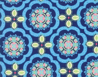 Moda MANDERLEY Quilt Fabric 1/2 Yard By Franny & Jane - Navy 47504 12