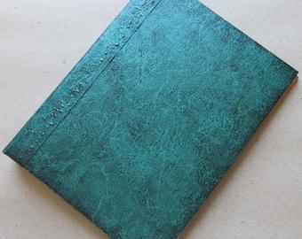 Handmade Refillable Journal Distressed Green 8x6 Original traveller notebook fauxdori