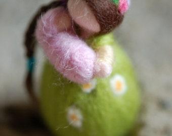 Custom Light earring, wool, Waldorf inspired Mamy