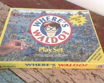 Vintage Where's Waldo Deluxe Colorforms Play Set Never Opened 1990s M856-1