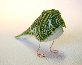 Fabric Finch – Paisley Pattern Green