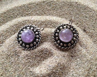 Silver and Amethyst earrings Satyrion Collection