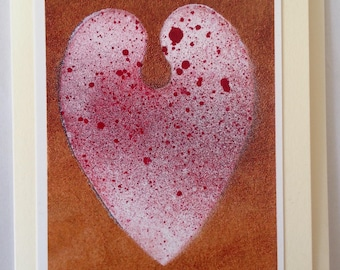 """Handmade heart card, """"Queen of Hearts"""" by Unknown Angel cards."""