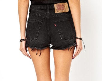 ALL SIZES Vintage Grunge Black High Waisted Levis