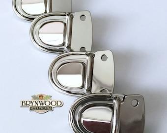 Tongue Lock Hardware, Handbag Tongue Lock Closure, Nickel Tongue Lock, Wallet Tongue Lock Closure, Purse Closure