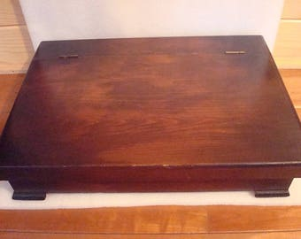 Vintage Large Wooden Silverware / Flatware Box / Knife Chest