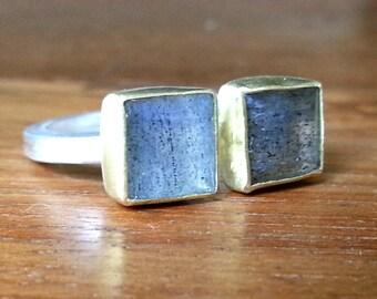 Labradorite ring-labradorite infinity ring-gold ring-labradorite double ring-Made to order.