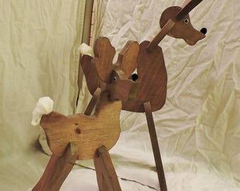 Handmade Wood Reindeer