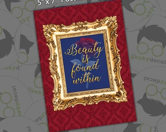 Postcard Print - Beauty is Found Within - 5x7
