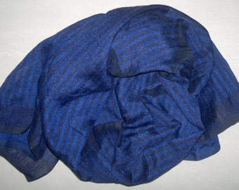 Small Scarf Indian Silk Scarf Neck Scarf Blue Scarf Striped SSF0