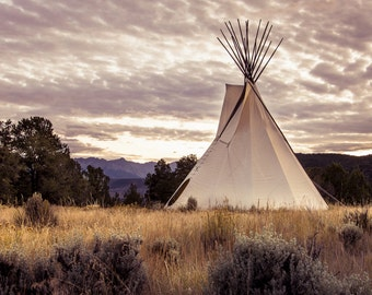 Tepee photo, western photography, old west picture, rustic art, Ute Indian photo, Colorado art, rustic western photography, neutral wall art