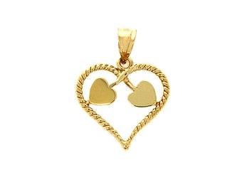 14k solid gold heart pendant. Heart jewelry, Love jewelry
