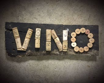 VINO Wall Art Featuring Wine Corks from Kentucky Wineries