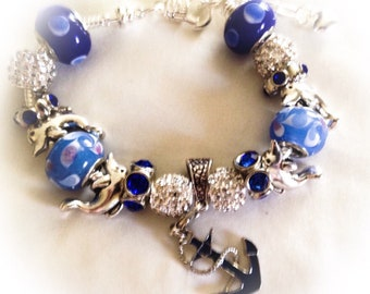 Nautical bracelet ,Beach Bracelet, Birthday gift, nautical  jewelry, graduation gift, gift bracelet, nautical jewelry, beach jewelry,
