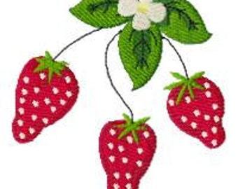 Strawberries Machine Embroidery Design