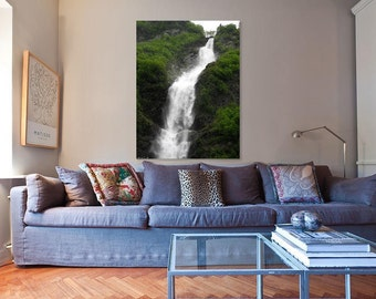 Glacier Water Fall, Fine wall art, Prints, Canvas, Metal.