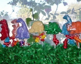 Chocolate Dinosaur  Lollipops