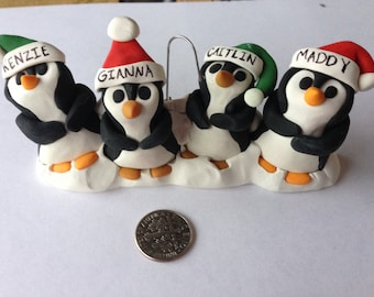 Family of Penguins Christmas Ornament