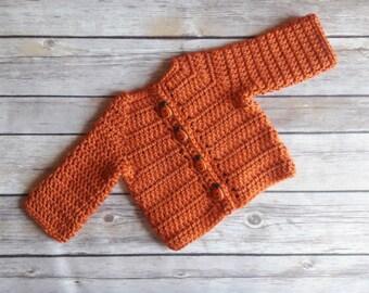 Pumpkin Sweater for Babies