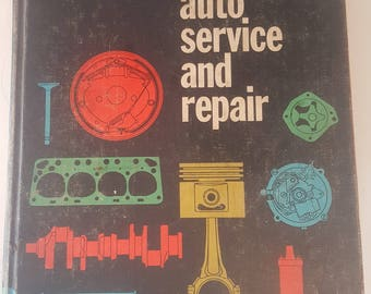 Vintage Car Repair Auto Service Manual by Martin Stockel, Antique Repair Manuals, Classic Car Manual, Gift for Mechanic, Gift for Grad, Tech