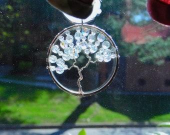 Bangle  Bracelet Tree of Life Suncatcher- Recycled Material