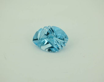 Sky Blue Topaz Marquise, Carved,extraordinary  facetting & carving Combenation ,Beautiful light blue. Creative. (AYS-G-00049-A )