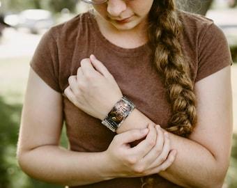 Be Still Black Bracelet, Custom Hand Stamped Bible Verse Bracelet, Christian Jewelry, Teacher Gift
