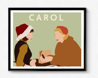 Carol Movie Poster, Minimalist Print
