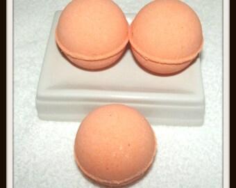 Lavender Peach Bath Fizzies, Lavender Blend Bath Bombs, Peach Bath Fizzies, Set of 3 Bath Bombs, Bath Soak, Bath Bomb