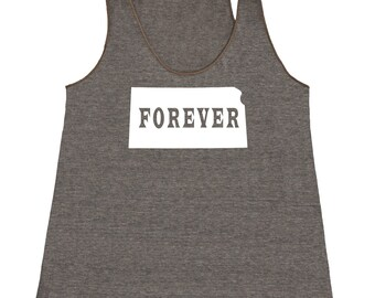 Kansas Forever Tank Top. Women's Tri Blend Racerback Tank Top SEEMBO