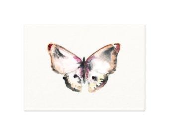Watercolor Butterfly Art Print. Modern Nature Wall Art Decor. Butterfly Print. Serene Nature Painting. Bathroom Art Print. New Baby Gift.