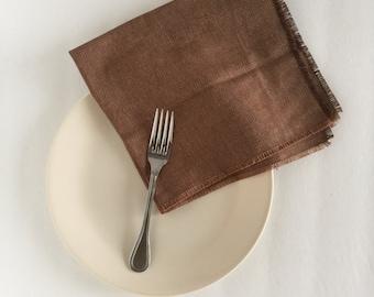 Brown Linen Napkins